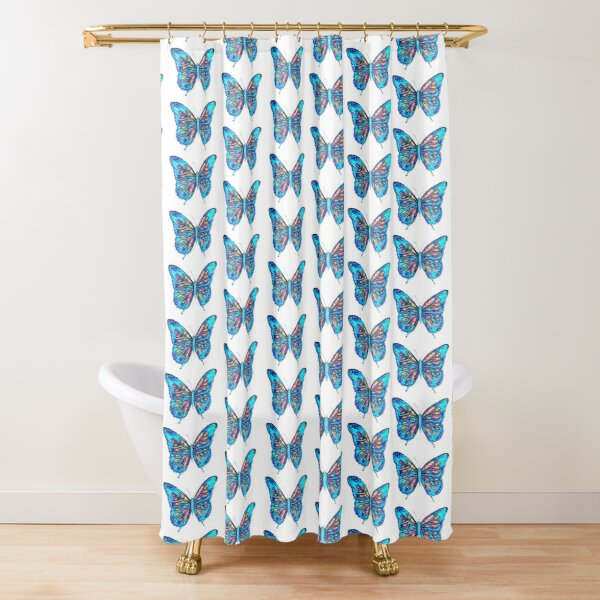 Angel Butterfly Shower Curtain