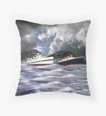 RMS Titanic together with her sister the HMHS Britannic - pillow & tote Throw Pillow