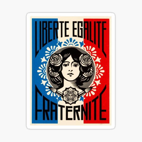 """Liberté, Égalité, Fraternité"" French for ""liberty, equality, fraternity"", national motto of France Sticker"