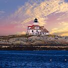 Egg Rock lighthouse by Nancy Richard