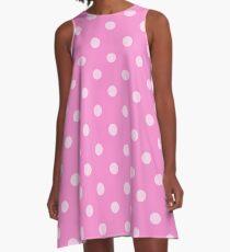 Hübsche rosa Polkadots A-Linien Kleid