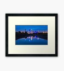 "Dallas ""Police Tribute"" Skyline 2016 Framed Print"