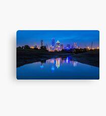 "Dallas ""Police Tribute"" Skyline 2016 Canvas Print"