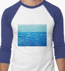 Japanese Waves original painting Men's Baseball ¾ T-Shirt