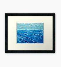 Japanese Waves original painting Framed Print
