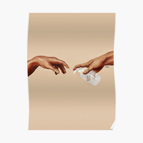 Michelangelo - Wash Your Hands Poster
