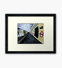 London Underground Wood Green Piccadilly Line Tube Station Acrylic Painting Framed Print