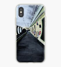 London Underground Wood Green Piccadilly Line Tube Station Acrylic Painting iPhone Case