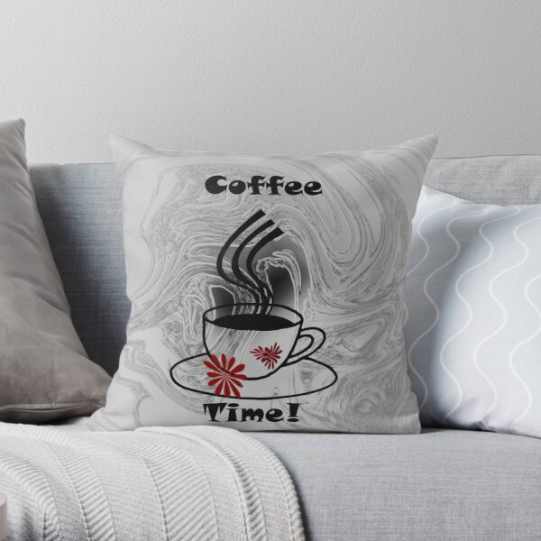 Coffee Time tote bag Throw Pillow