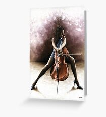 Tranquil Cellist Greeting Card