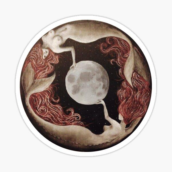 Mermaids & the Moon Sticker