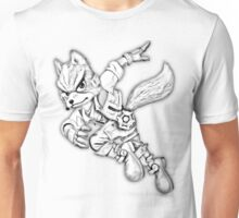 Fox Mcloud pencil Design Unisex T-Shirt