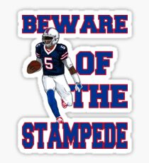 Tyrod Taylor - Beware Of The Stampede Sticker