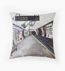 London Underground Goodge Street Northern Line Tube Station Acrylic Painting Throw Pillow