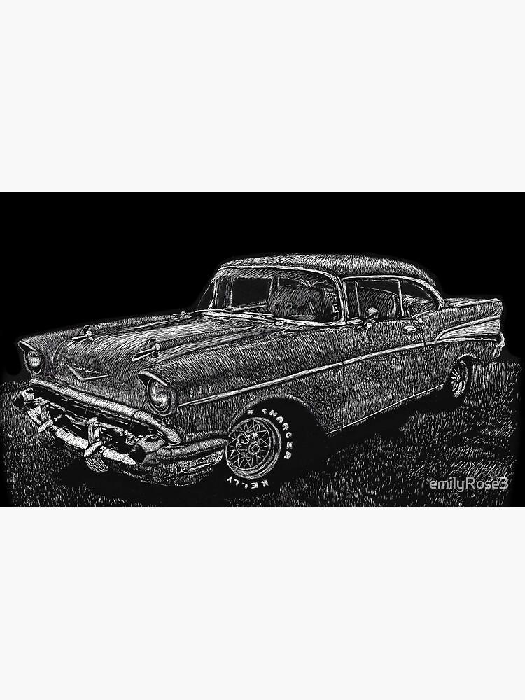 '57 Chevy Scratchboard by emilyRose3