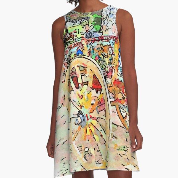Sicilian cart A-Line Dress