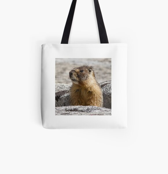A marmot appears All Over Print Tote Bag