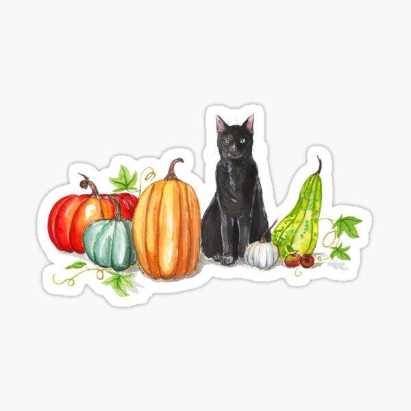 Salem et les citrouilles Sticker