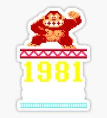 Donkey Kong Gamer tshirt Sticker