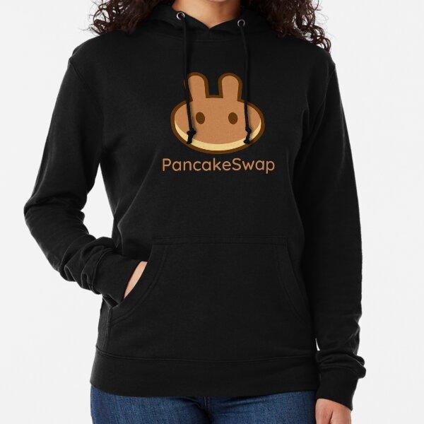 Pancake Swap Shirt, Stylish PancakeSwap CAKE Logo Lightweight Hoodie