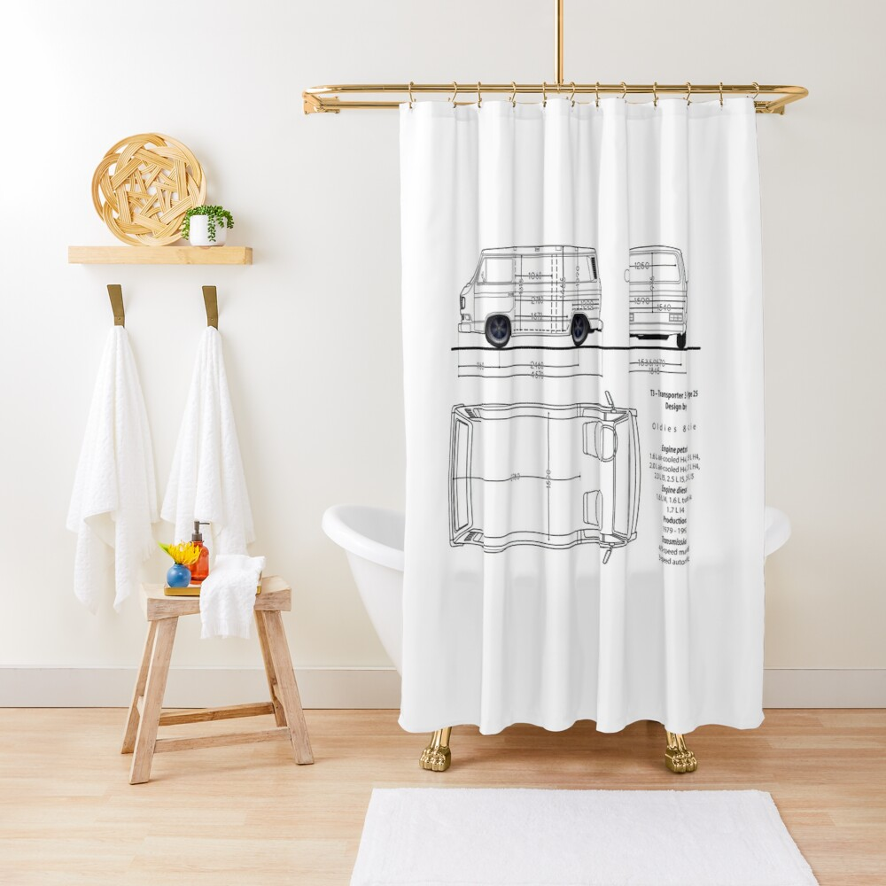 T3 aircooled combi Shower Curtain