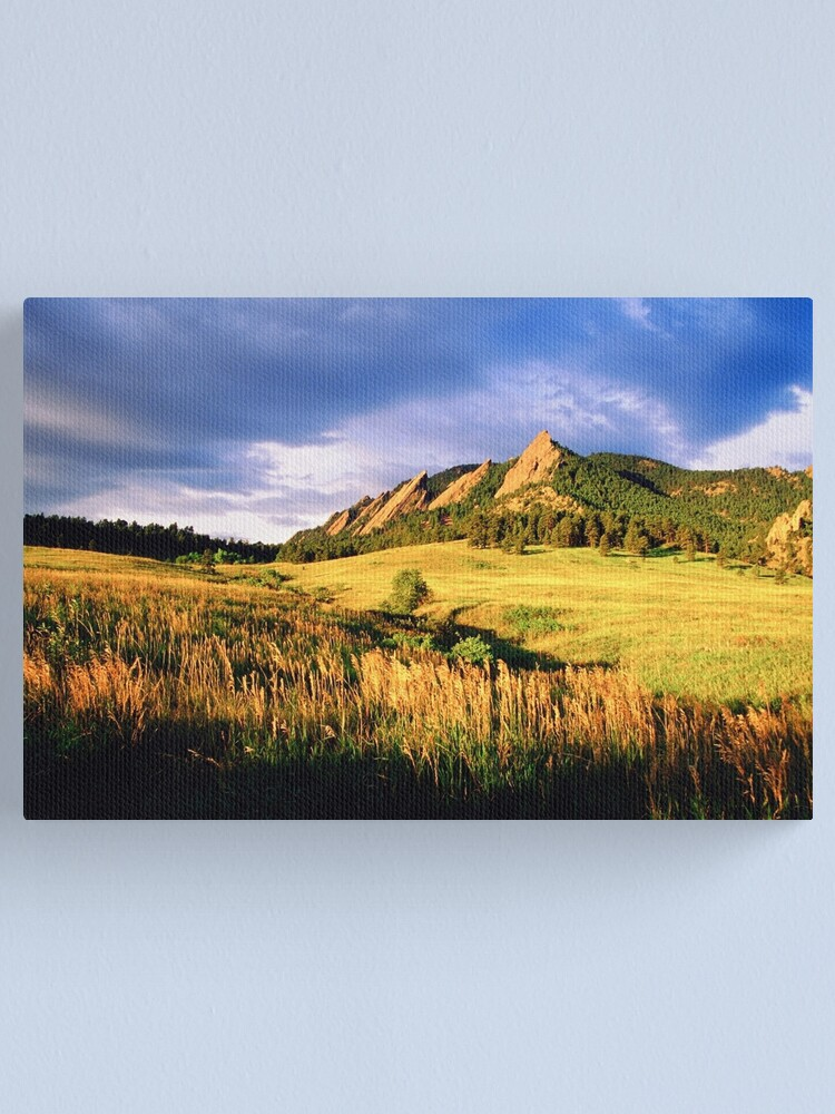 Alternate view of Summer At The Flatirons Canvas Print