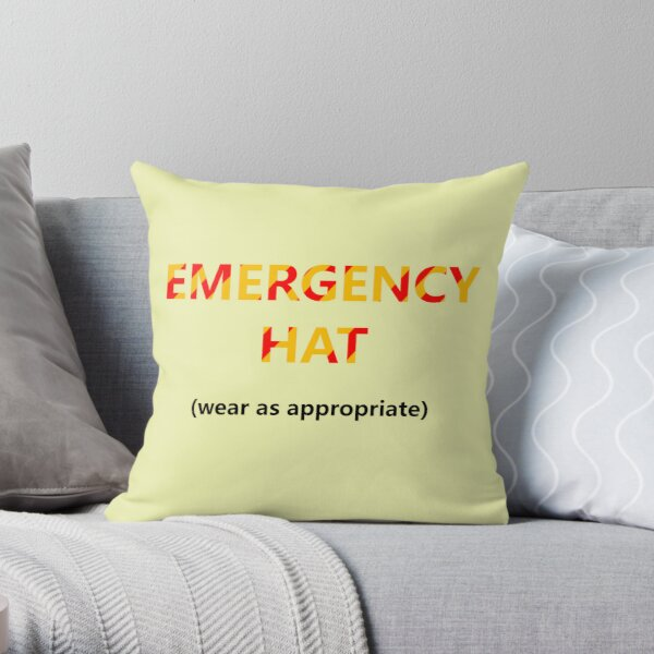 Emergency Hat Throw Pillow