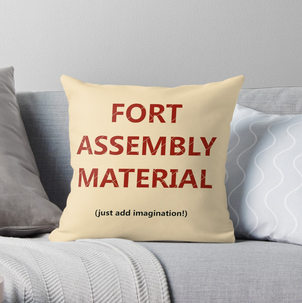 Fort Construction Kit Throw Pillow