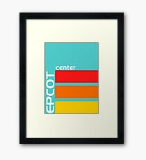 Epcot Center Turquoise Design  Framed Print