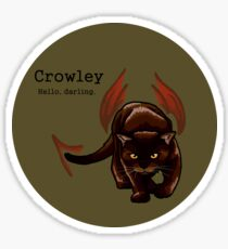Crowley - Cat King of the Crossroads Sticker