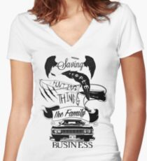 The Family Business Women's Fitted V-Neck T-Shirt