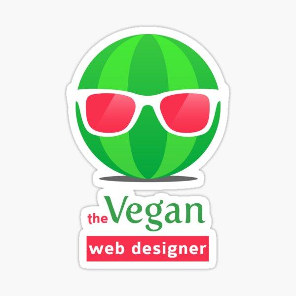 The Vegan Web Designer Sticker