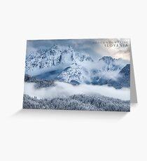 Ponca Mountains, Slovenia Greeting Card