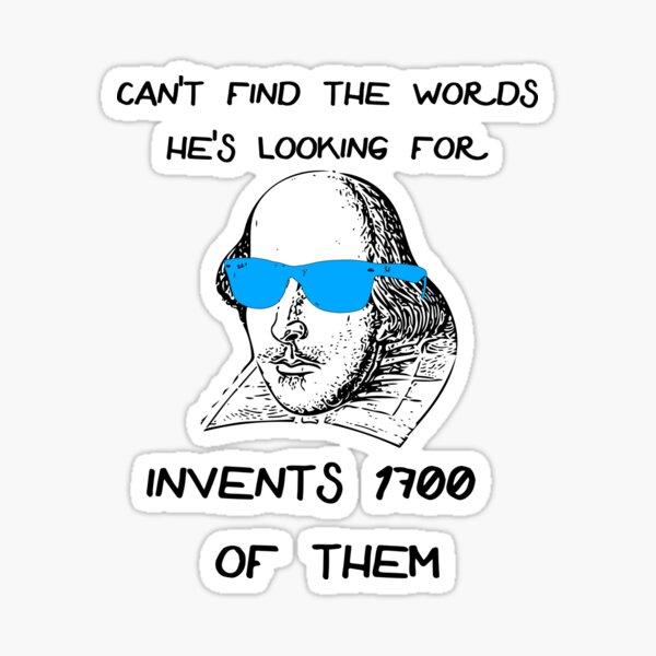 Funny Shakespeare Meme Sticker