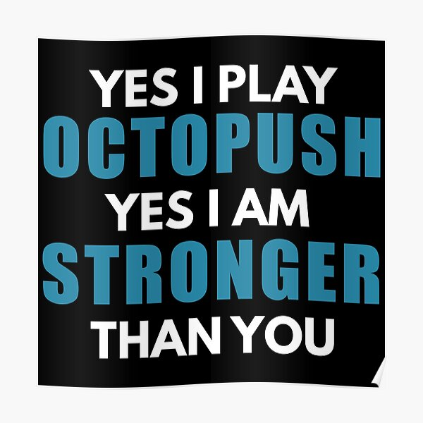 Octopush Players Are Stronger Poster