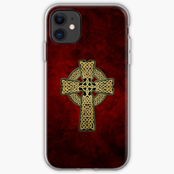 Celtic Cross in gold colors iPhone Soft Case