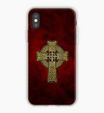 Celtic Cross in gold colors iPhone Case