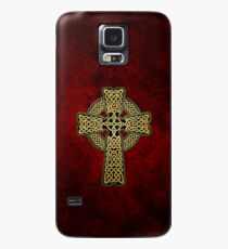 Celtic Cross in gold colors Case/Skin for Samsung Galaxy