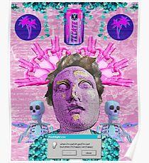 Vaporwave Front Bottoms Aesthetic - Self Titled Poster