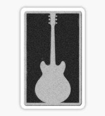 Guitar in stone plate Sticker