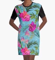 Hello Hawaii, a stylish retro aloha pattern. Graphic T-Shirt Dress