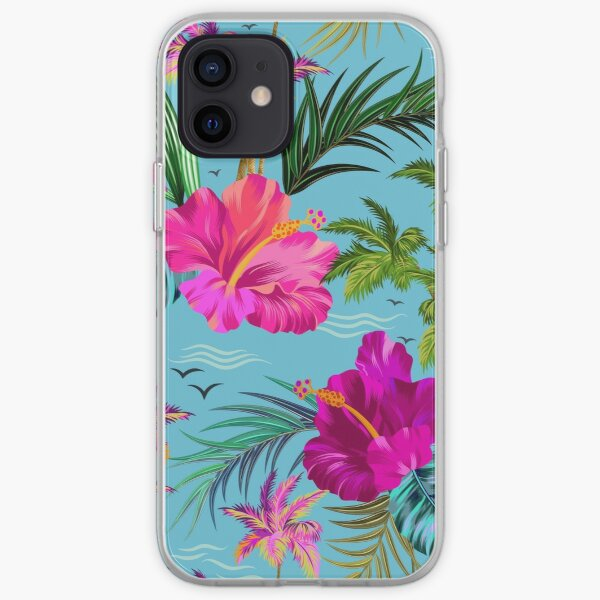Hello Hawaii, a stylish retro aloha pattern. iPhone Soft Case