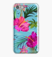 Hello Hawaii, a stylish retro aloha pattern. iPhone Case/Skin