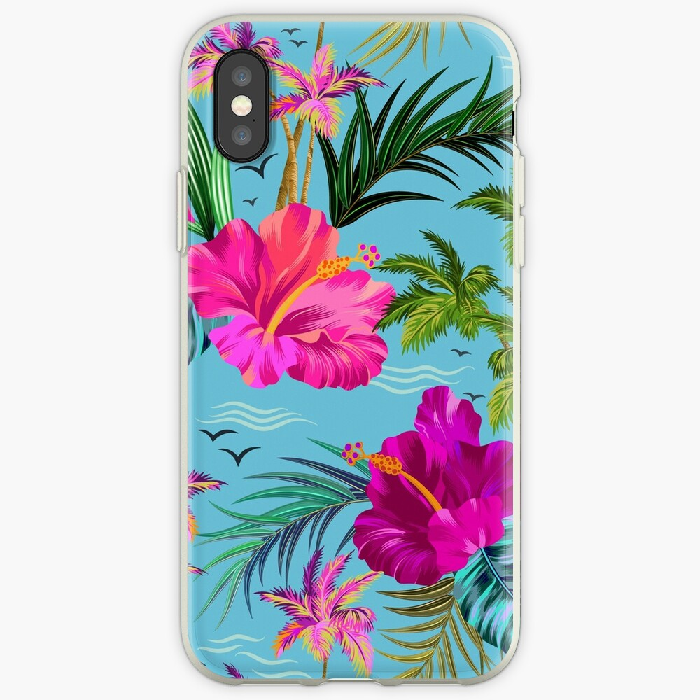 Hallo Hawaii, ein stilvolles Retro-Aloha-Muster. iPhone-Hülle & Cover