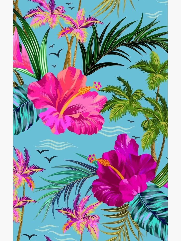 Hello Hawaii, a stylish retro aloha pattern. by belokrinitski