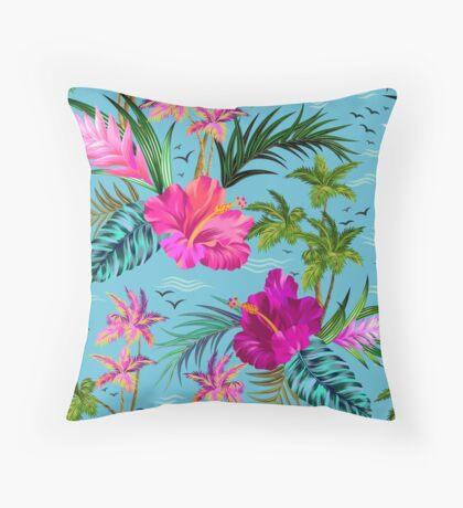 Hello Hawaii, a stylish retro aloha pattern. Throw Pillow