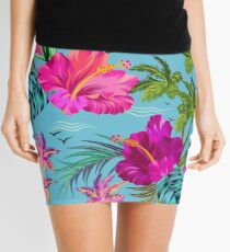 Hello Hawaii, a stylish retro aloha pattern. Mini Skirt