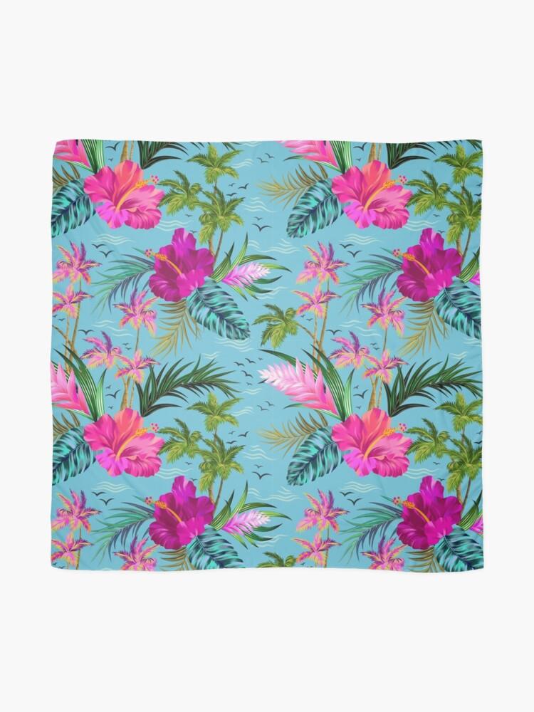 Alternative Ansicht von Hallo Hawaii, ein stilvolles Retro-Aloha-Muster. Tuch