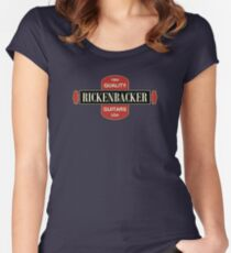 Vintage Rickenbacker Guitars 1964 Women's Fitted Scoop T-Shirt