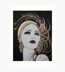 ART DECO GOLD BEAUTY Art Print